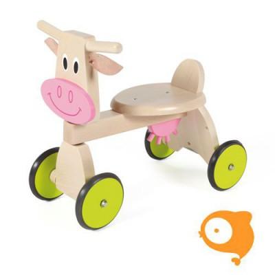 Scratch - Loopfiets 4-wieler koe Marie