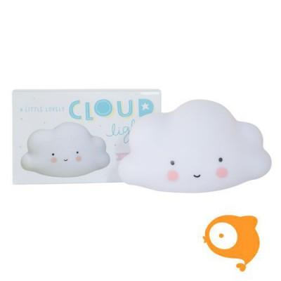 A little lovely company - Nachtlampje mini cloud wit