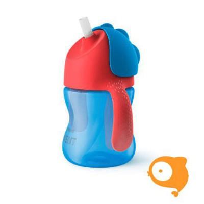 Avent - Beker met rietje 200 ml Boy Blauw