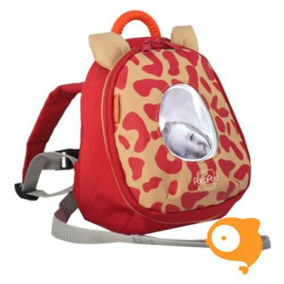 PacaPod - Rugzakje met loopbandje luipaard rood
