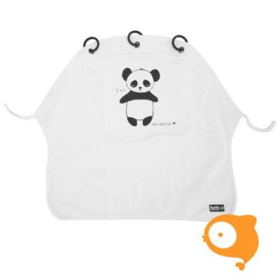 Kurtis - Kinderwagengordijn panda black & white