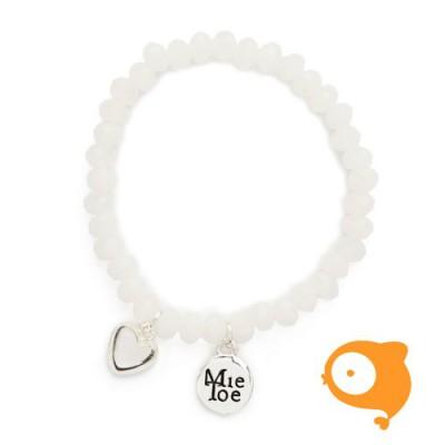Mie Toe - Dochter armbandje heart white