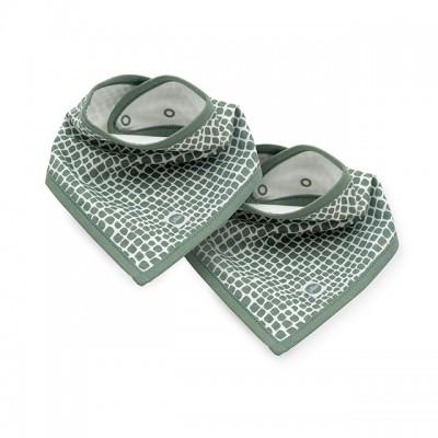 Jollein - slab bandana snake ash green (2 pack )