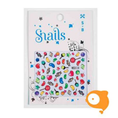 Snails - Nail Stickers - Candy Blast
