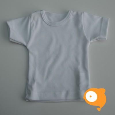 Wooden Buttons - T-shirt wit