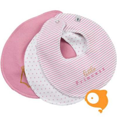Pippi - Basic bib girl - set van 3 stuks - pink nectar