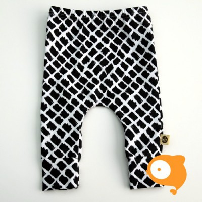 Wooden Buttons - Legging zwart-wit