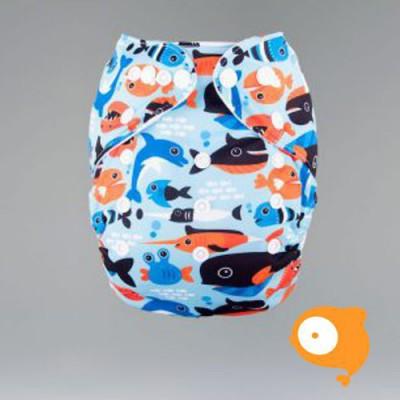 Pandababy - Uitwasbare Zwemluier (drukkers) Walvis en co
