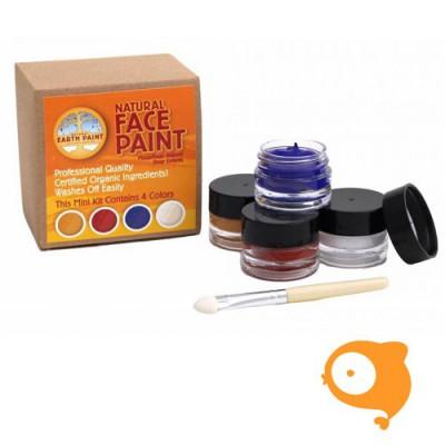 Natural Earth Paint - Natural face paint kit mini 4 kleuren