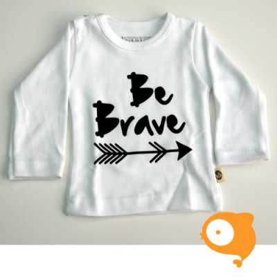 Wooden Buttons - Longsleeve be brave