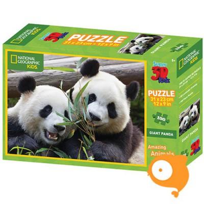 Prime 3D - Puzzel 100 stukjes 'Pandas (national geographic)'