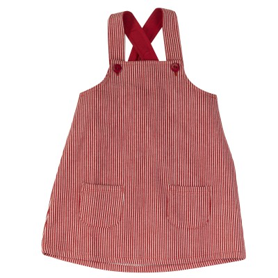 Pigeon - Apron dress rood