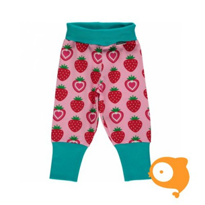 Maxomorra - Pants rib strawberry