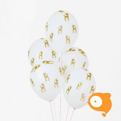 My Little Day - Ballonnen Gouden Hert - set van 5