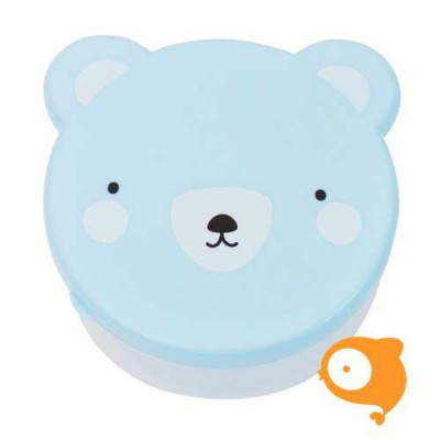A Little Lovely Company - Snack box set van 4 - Bear blue