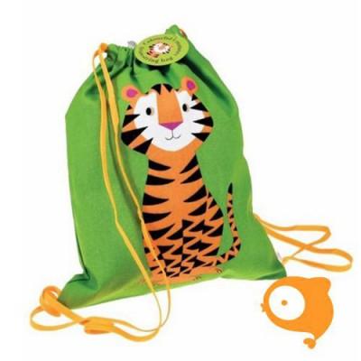 Rexinter - Rugzakje met trekkoord tijger