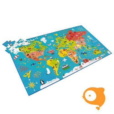 Scratch - Puzzel wereldkaart 150-delig