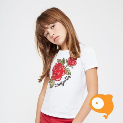 Conguitos - T-shirt rozen wit