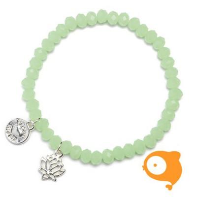 Proud Mama - Armband charm lotus mint