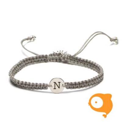 Proud Mama - Armband met initiaal N
