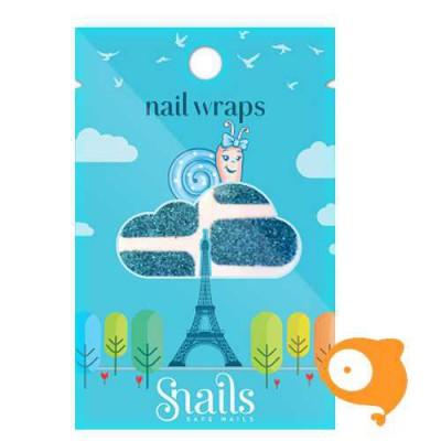 Snails - Nail wrap - Turquoise