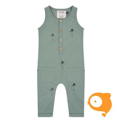 Little Indians - Jumpsuit Palm Trees Soft Green