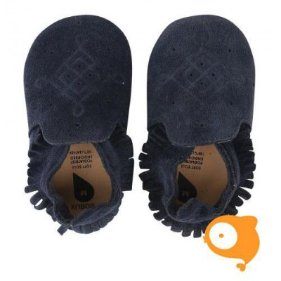 Bobux - Soft sole suede moccasin navy