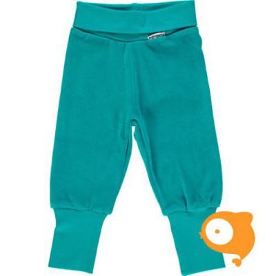 Maxomorra - Pants rib velour turquoise