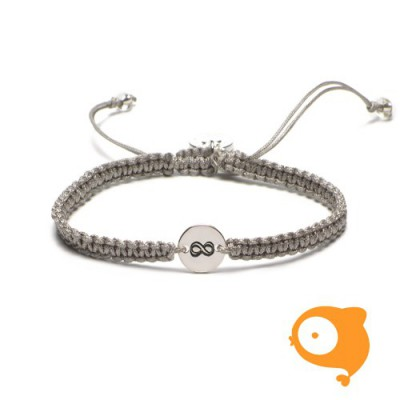 Proud Mama - Armband initials oneindig