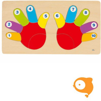 Goki - Puzzel vingers tellen
