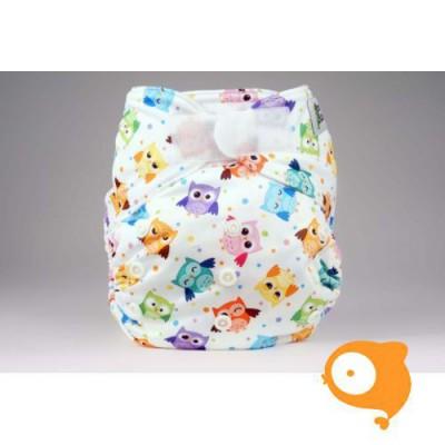 Pandababy - Pocket luier met klittenband uiltjes