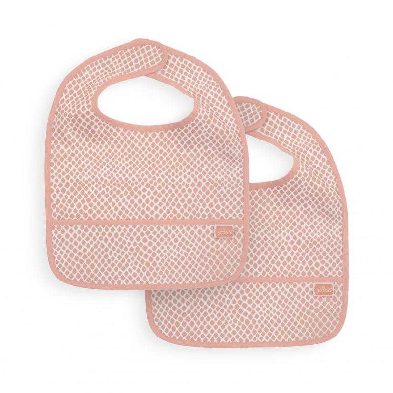 Jollein - Slab waterproof Snake pale pink (2 pack)