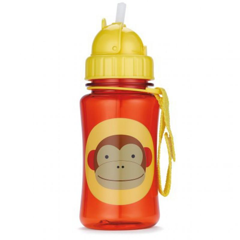 Skip Hop - Zoo drinkfles met rietje - Aap