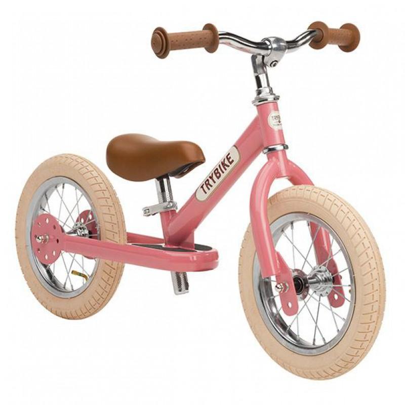 Trybike - steel loopfiets - vintage pink