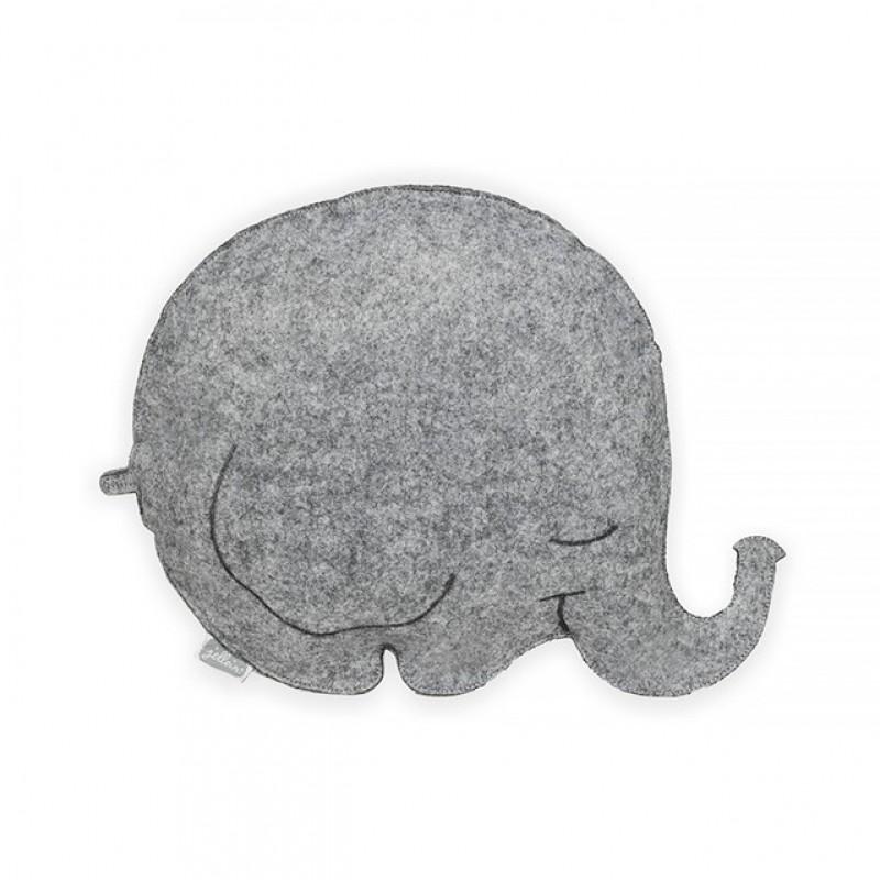 Jollein - kussen vilt Bubbles grey