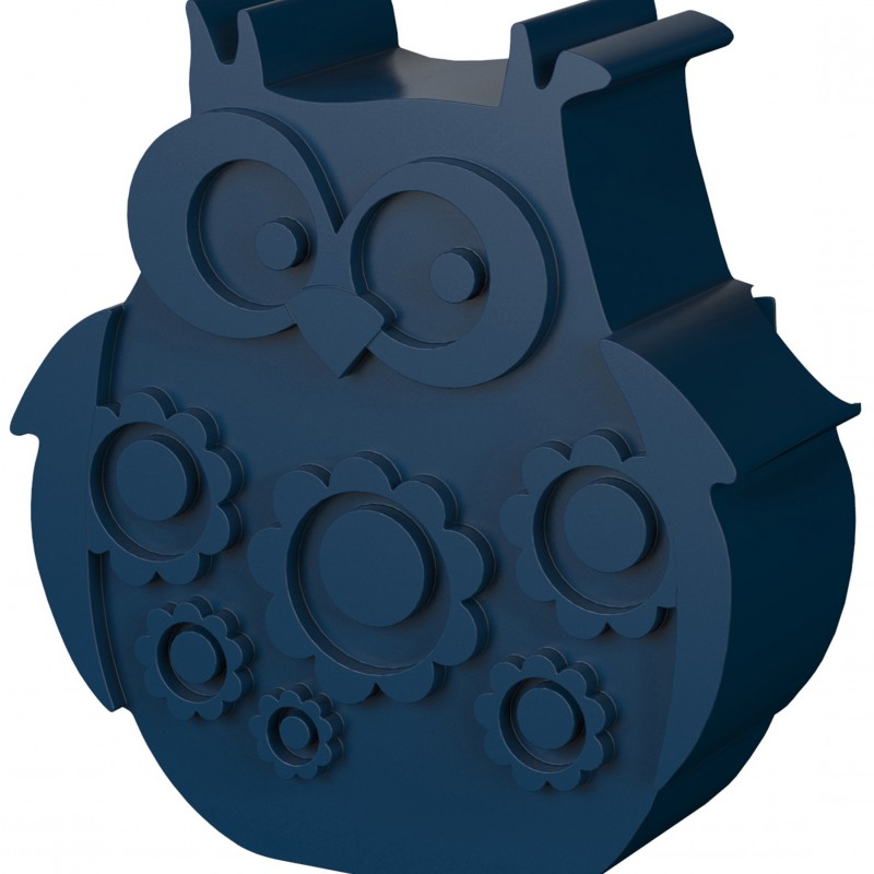 Blafre - lunchbox owl dark blue