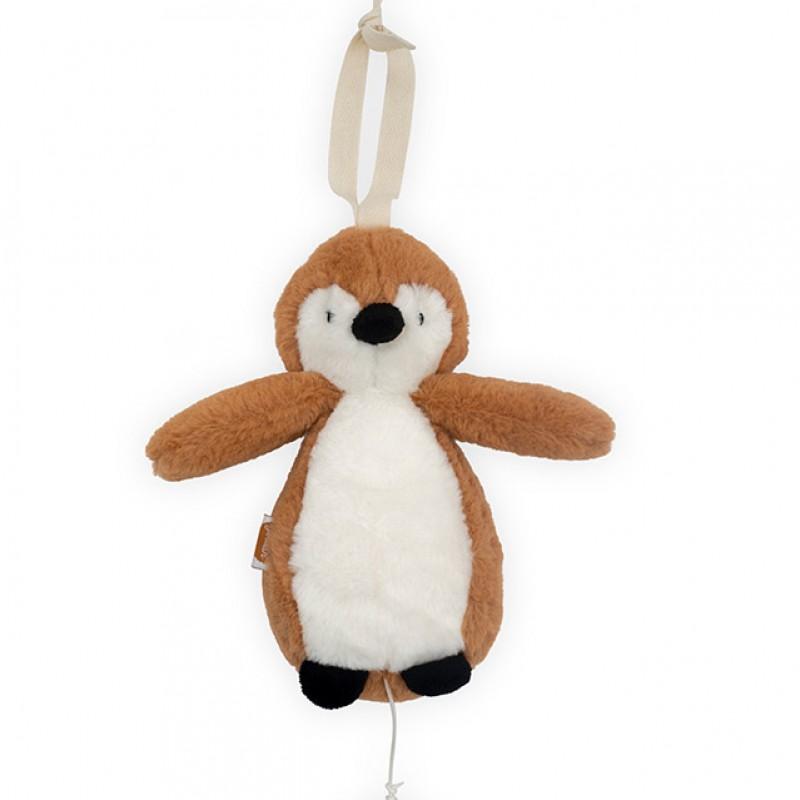 Jollein - muziekhanger Pinguin caramel