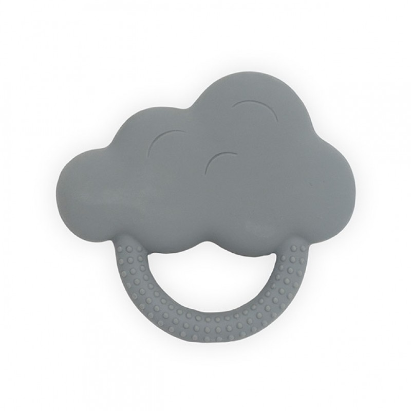 Jollein - Bijtring rubber Cloud storm grey