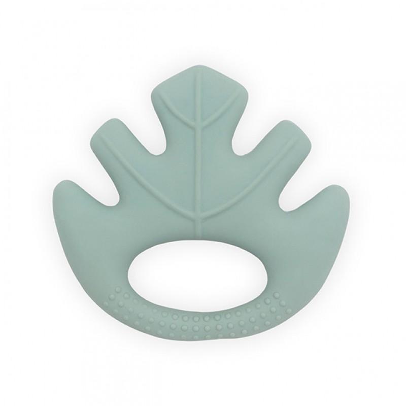 Jollein - Bijtring rubber Leaves ash green
