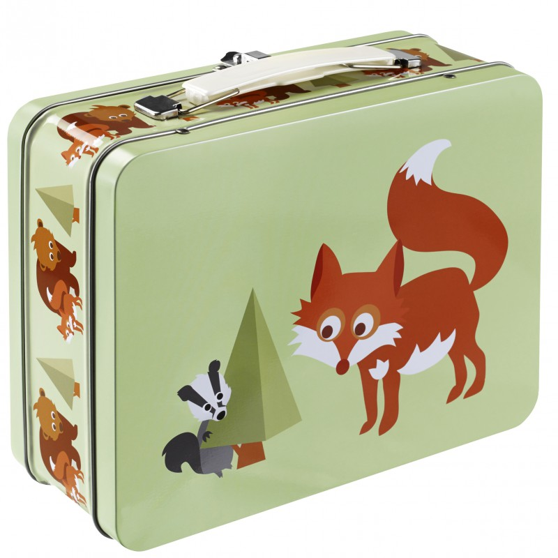 Blafre - tin suitcase fox
