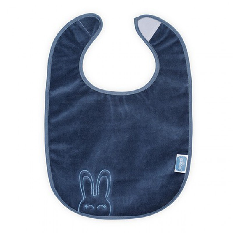 Jollein - slab waterproof velvet terry Sweet bunny blue