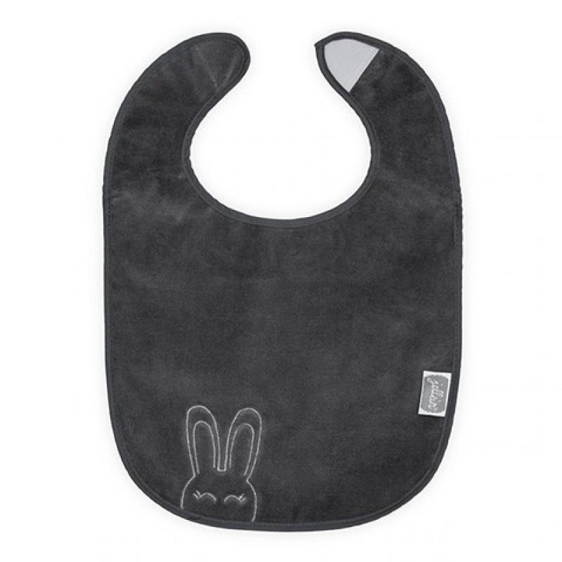 Jollein - slab waterproof velvet terry Sweet bunny anthraciet