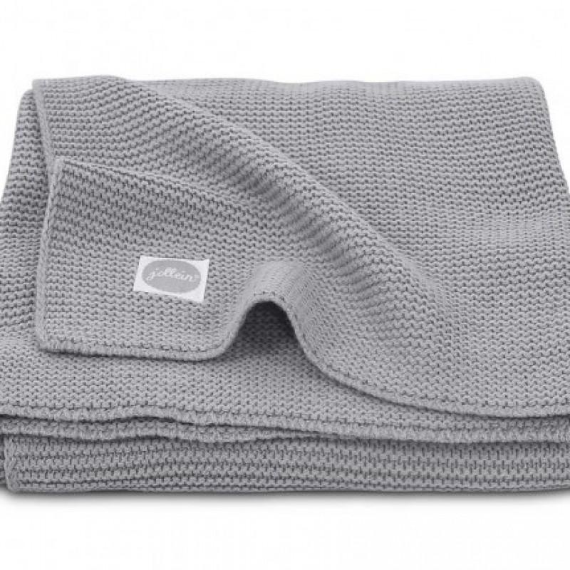 Jollein - deken basic knit stone grey 75x100cm