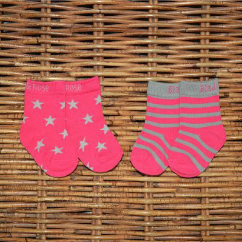 Blade&Rose - Sokjes roze sterren (2 paar)