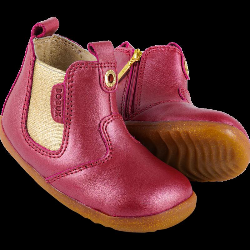 Bobux - step up - Jodhpur Cherry Shimmer