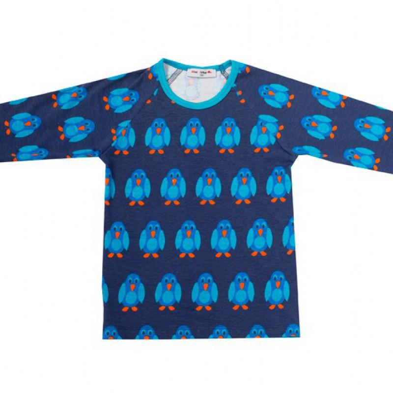 Mini Cirkus - Penguin dark blue longsleeve - laatste stuk - maat 56
