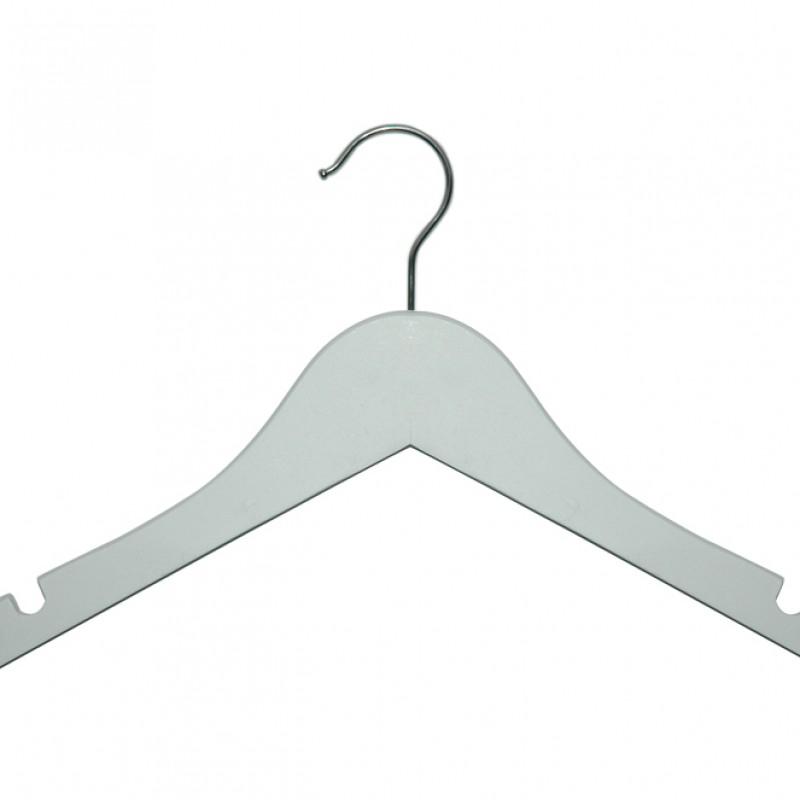 Kinderkledinghangers hout wit gelakt 32 cm - per 10 stuks