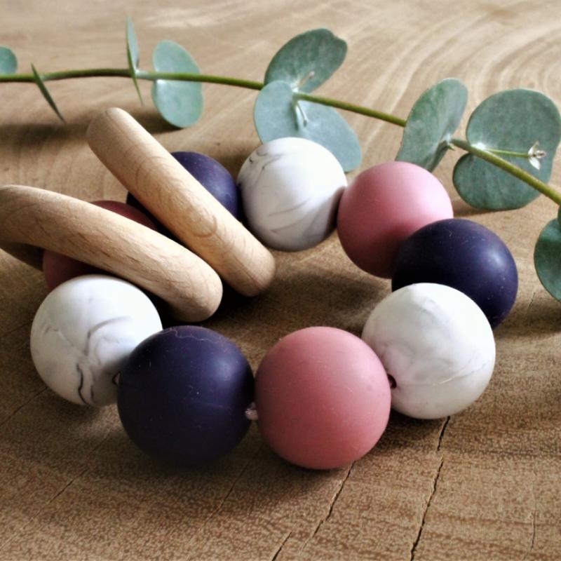 Liv's story - Bijtring multicolor paars