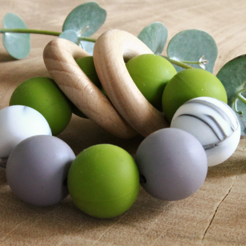Liv's story - Bijtring multicolor groen