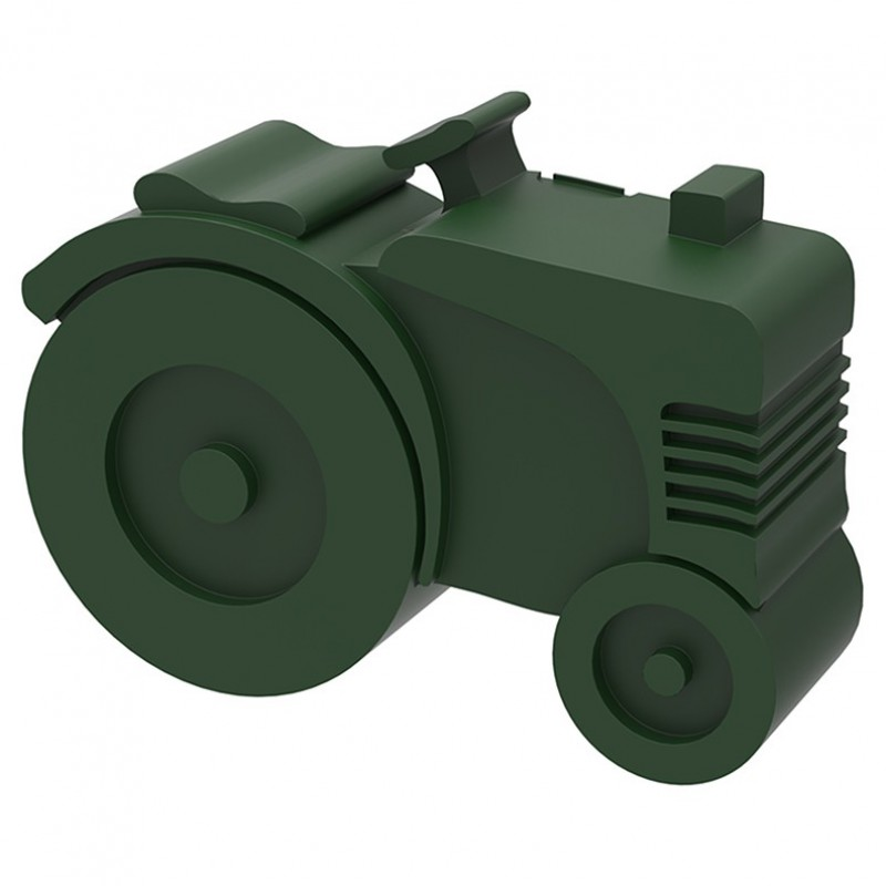 Blafre - lunchbox tractor dark green